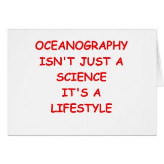 oceanography card
