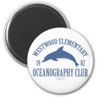 Oceanography Club 2 Inch Round Magnet