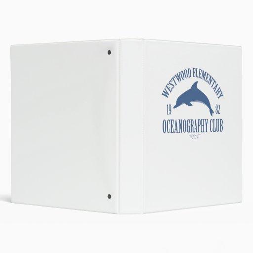 Oceanography Club 3 Ring Binder