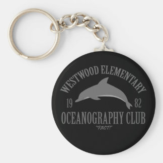 Oceanography Club Basic Round Button Keychain