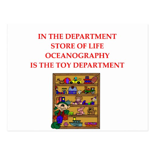 OCEANOGRAPHY gifts t-shirts Postcard