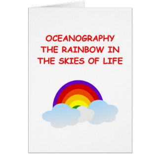 oceanography greeting card