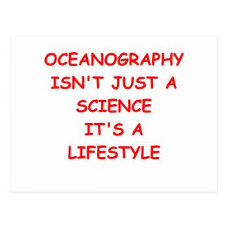 oceanography postcard