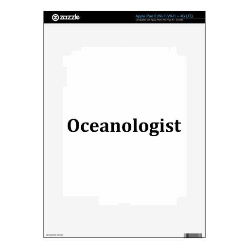 Oceanologist Decals For iPad 3