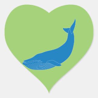 Océanos de la fauna de los mamíferos marinos de la pegatina en forma de corazón