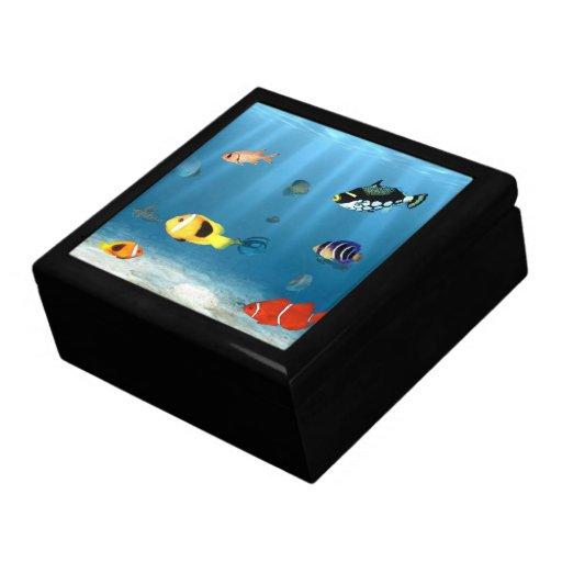 Océanos de pescados cajas de recuerdo