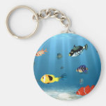 Océanos de pescados llaveros personalizados