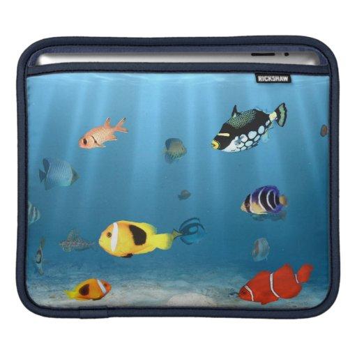 Océanos de pescados manga de iPad
