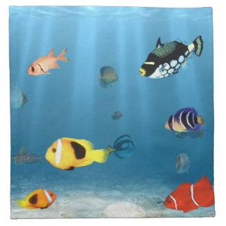 Océanos de pescados servilleta de papel