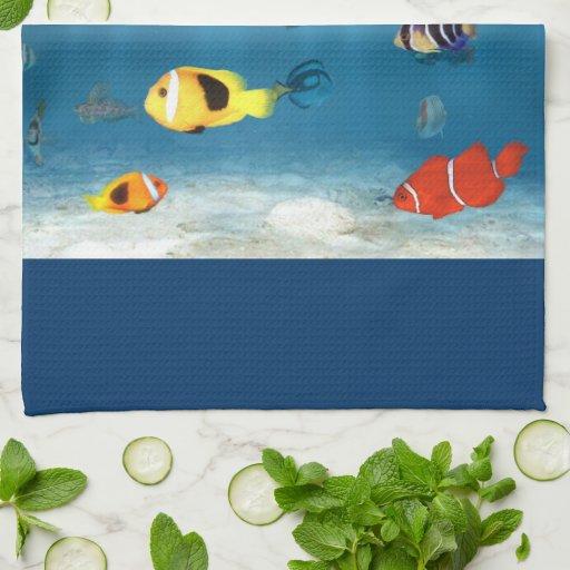 Océanos de pescados toallas de mano