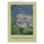 Océanos del cumpleaños del amor: Delfín debajo del Tarjetas