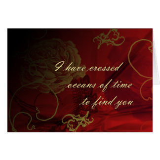 Océanos del tiempo tarjeta de felicitación