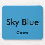 Océanos Mousepad del azul de cielo Alfombrilla De Ratones