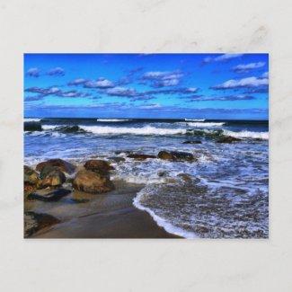 Oceans Blue postcard