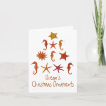 Ocean's Christmas Ornaments Holiday Card