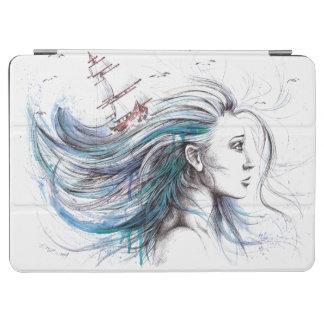"""""""Oceans"""" Girl surreal original art iPad cover"""
