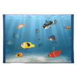 Oceans Of Fish Cloth Placemat