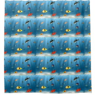 Oceans Of Fish Shower Curtains