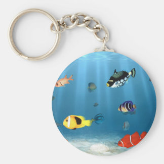 Oceans Of Fish Key Chain