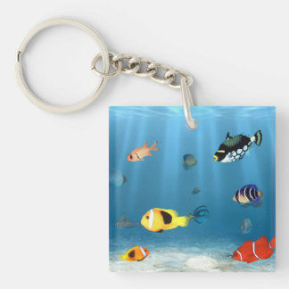 Oceans Of Fish Keychain