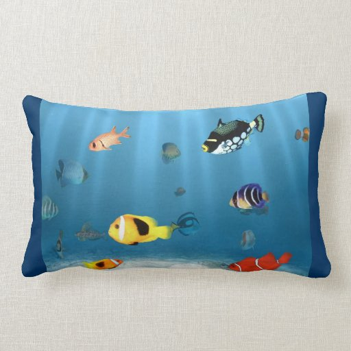 Oceans Of Fish Pillows