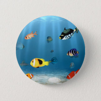 Oceans Of Fish Pinback Button