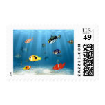 Oceans Of Fish Postage Stamps