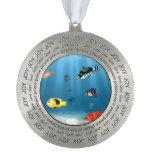 Oceans Of Fish Round Ornament