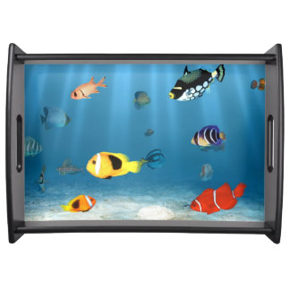 Oceans Of Fish Serving Tray