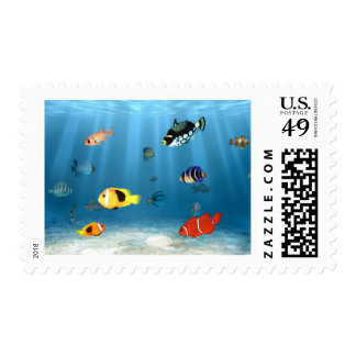 Oceans Of Fish Stamp
