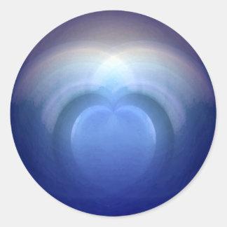Oceans of Love Wedding Classic Round Sticker