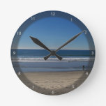 Oceanside Beach Round Clock