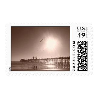 Oceanside, CA Pier Postage Stamps