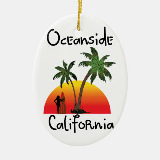 Oceanside California Ceramic Ornament