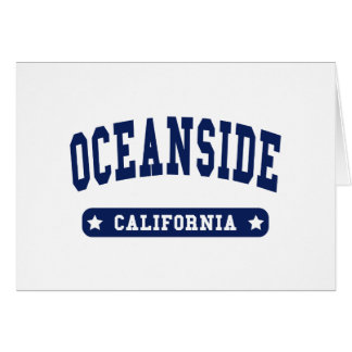 Oceanside California College Style tee shirts Greeting Card