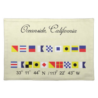 Oceanside California Nautical Signal Flag Placemat