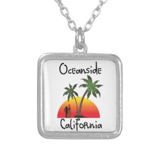 Oceanside California Silver Plated Necklace
