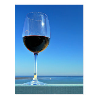 Oceanside Glass of Merlot Postcard