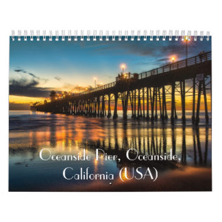 Oceanside Pier at sunset Calendar
