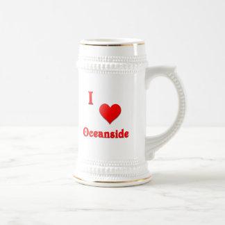 Oceanside -- Red Beer Stein