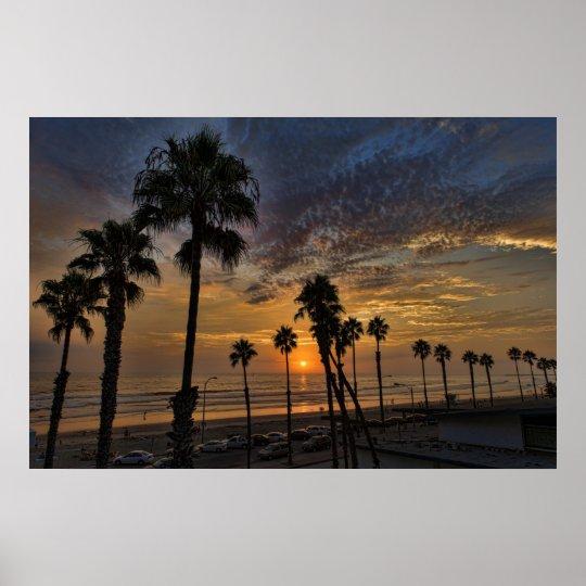 Oceanside Sunset Poster
