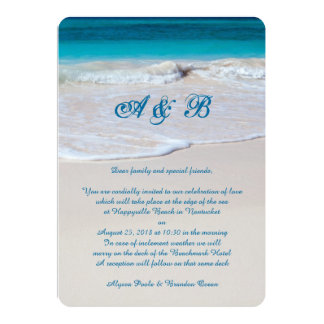 Oceanside Unique Wedding Letter From Couple Card