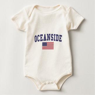 Oceanside US Flag Baby Bodysuit