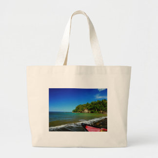 Oceanside view in Saint  Lucia Tote Bag
