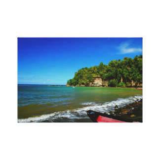 Oceanside view in Saint  Lucia Canvas Prints
