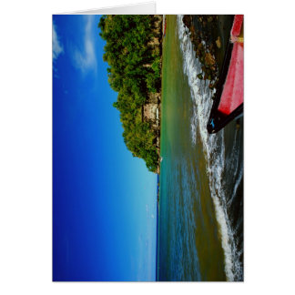 Oceanside view in Saint  Lucia Greeting Card