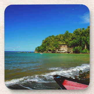 Oceanside view in Saint  Lucia Drink Coaster