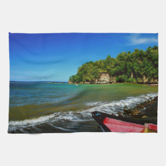 Oceanside view in Saint  Lucia Kitchen Towels