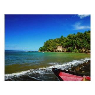 Oceanside view in Saint  Lucia Customized Letterhead