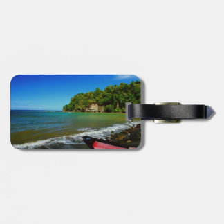 Oceanside view in Saint  Lucia Travel Bag Tag
